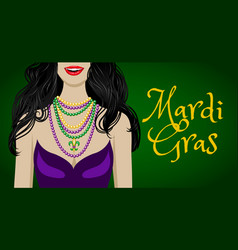 mardi gras greetings vector image