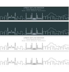 Medina single line skyline banner vector