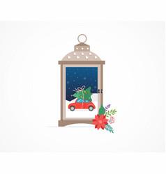 merry christmas winter wonderland scenes in a vector image