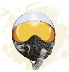 Military flight helmet vector