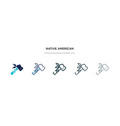 Native american tomahawk icon in different style vector