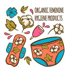 organic feminine zero waste hand drawn illu vector image