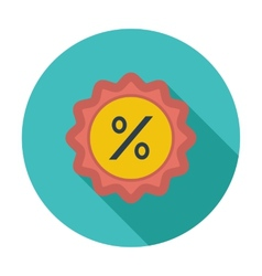 Percent label vector image