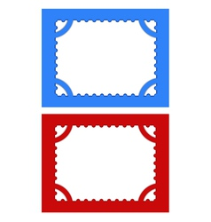 postage stamps with perforations on different back vector image