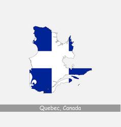 Quebec canada map flag vector