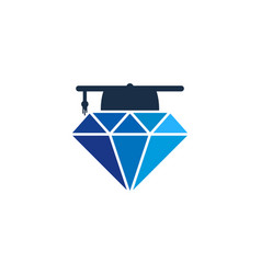 School diamond logo icon design vector