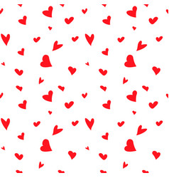 seamless pattern with red hearts for vector image
