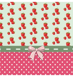 Shabby chic set with strawberries vector image