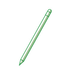 shadow green pencil cartoon vector image