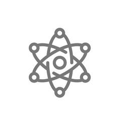 simple atom and molecule line icon symbol and vector image