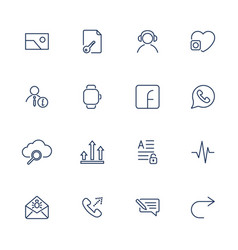 simple icons for app programs and sites set with vector image
