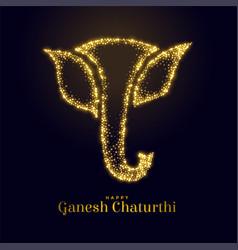 Sparkling lord ganesha figure for ganesh mahotsav vector