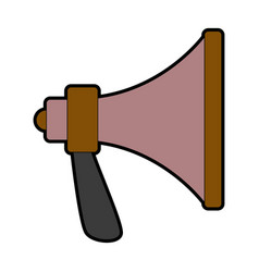 Speaker megaphone loud advertising marketing vector