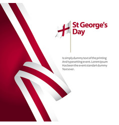 St georges day template design vector