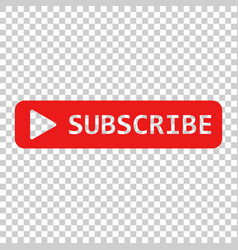 Subscribe button icon on isolated transparent vector