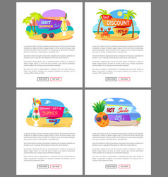 summer sale and discounts price off websites vector image