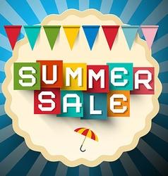 Summer Sale Label Colorful Sale Title Paper Cut vector image
