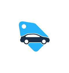 tag automotive logo icon design vector image