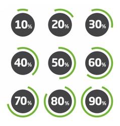 Template pie chart percent vector