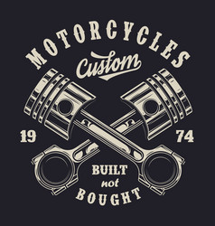 Vintage monochrome motorcycle label vector