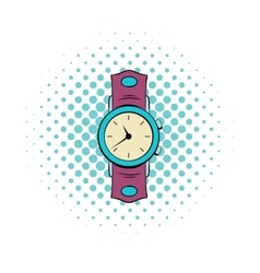 Watch comics icon vector image