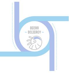 Website banner and landing page ocean delicacy vector