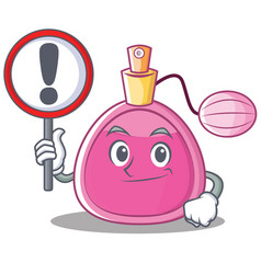 With sign perfume bottle character cartoon vector