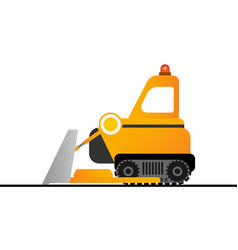 Yellow bulldozer on white background mining vector