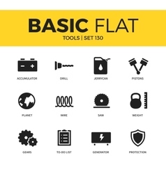 Basic set of Tools icons vector image vector image