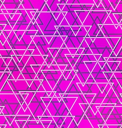 purple color triangle seamless pattern vector image