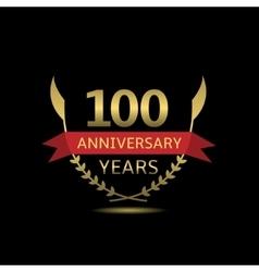 100 Anniversary years vector image