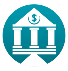 Bank building sign vector image