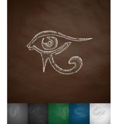eye of Horus icon vector image vector image