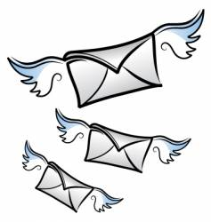 flying letters vector image vector image