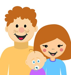 Happy Family Man Woman and Kid vector image vector image