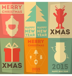 Merry Christmas Greeting Poster vector image