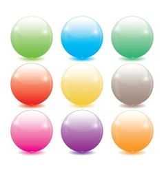 set of colored glass balls vector image vector image