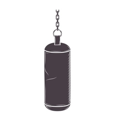 silhouette chains Hanging a bag weight vector image vector image