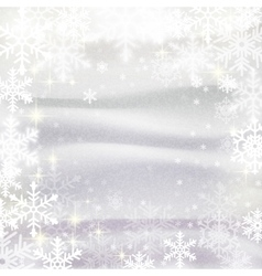 Snowflakes against snowdrifts Winter vector image vector image