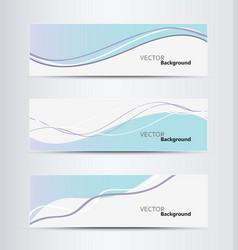website header or banner set vector image