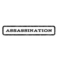 assassination watermark stamp vector image vector image