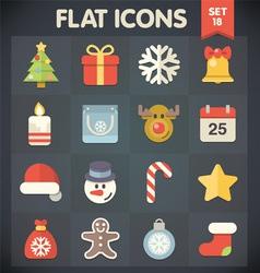 Christmas Universal Flat Icons for Web and Mobile vector image vector image