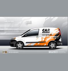 digital white realistic vehicle car mockup vector image