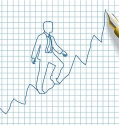 Entrepreneur start up business success vector image vector image