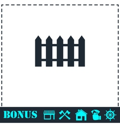 Fence icon flat vector image