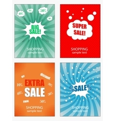 Set of sale banners template vector image vector image