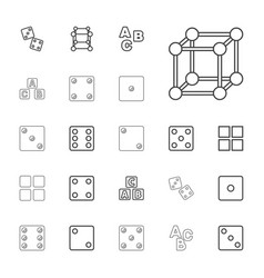 22 cube icons vector