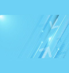 abstract blue technology digital hi tech concept vector image
