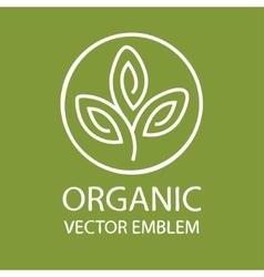 Abstract organic emblem outline monogram vector