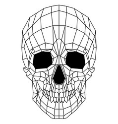 Abstract polygonal linear skull on a background vector
